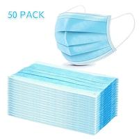 Háromrétegű szájmaszk készlet, 50 db/csomag, egyhasználatos, nem orvosi , blue