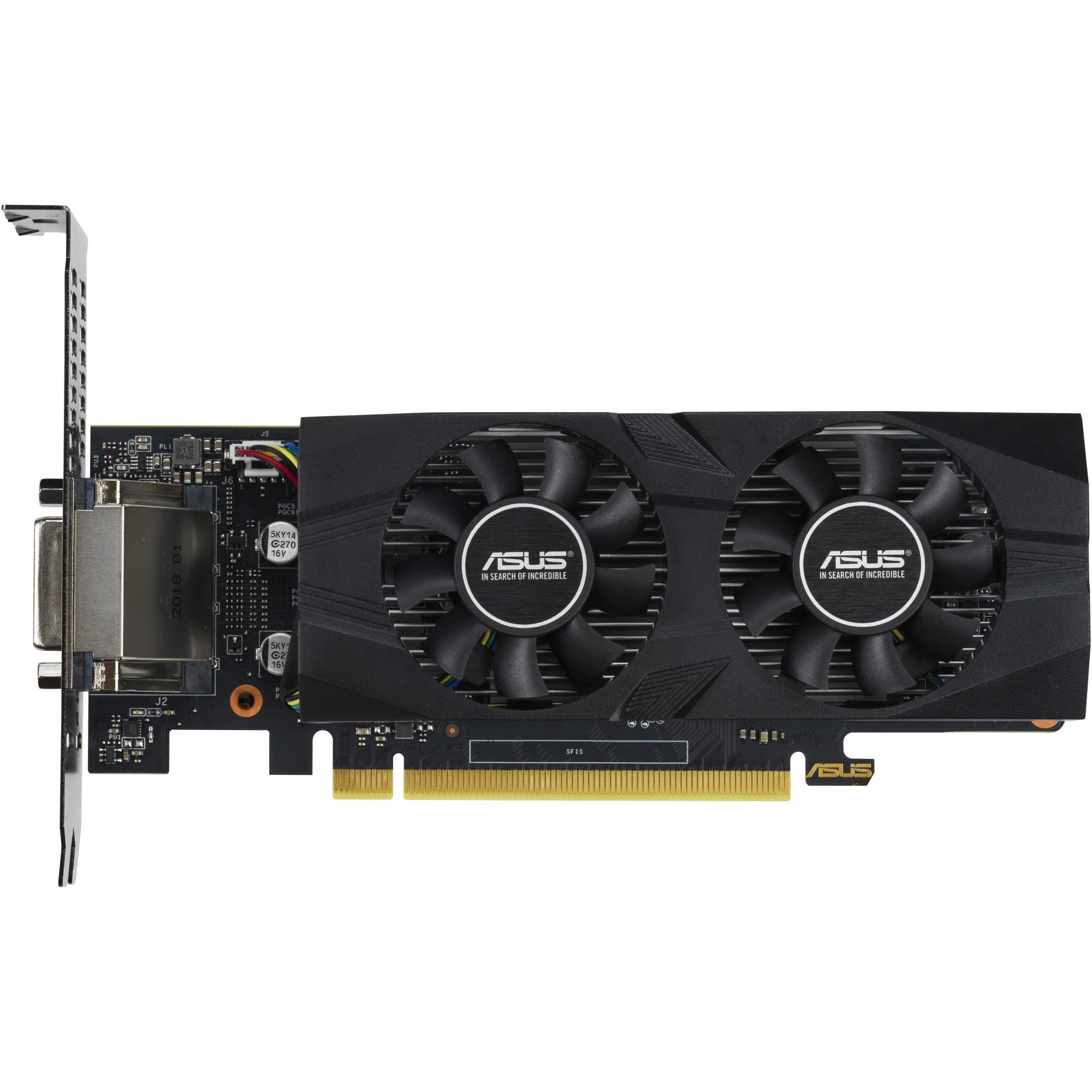 Fotografie Placa video ASUS GeForce GTX 1650 LP, 4GB GDDR5, 128-bit