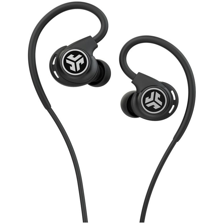 Fotografie Casti Audio Sport In Ear JLAB Fit Sport 3, Cu fir, Microfon, Negru