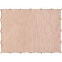 Placaj din lemn pentru icoane cu margini ondulate, 30 x 22 x 1.5 cm