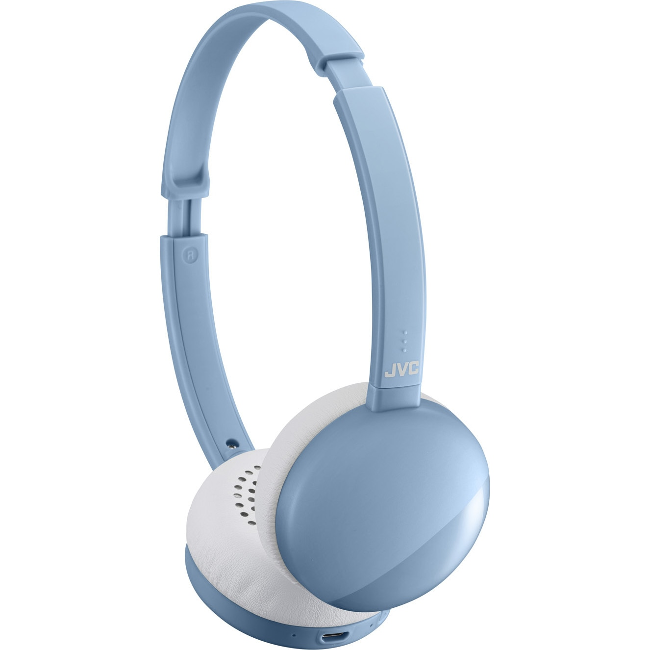 Fotografie Casti Audio On Ear JVC HA-S22W-A-U, Wireless, Bluetooth, Microfon, Autonomie 17 ore, Albastru