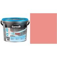 Фугираща смес Ceresit CE40, 2кг, Розов, Аквастатичен ефект, Вътрешно и външно приложение, За стени, Подове, Фаянс, Плочи, Мозайки
