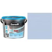 Фугираща смес Ceresit CE40, 2кг, Небесно син, Аквастатичен ефект, Вътрешно и външно приложение, За стени, Подове, Фаянс, Плочи, Мозайки