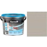 Фугираща смес Ceresit CE40, 2кг, Сива, Аквастатичен ефект, Вътрешно и външно приложение, За стени, Подове, Фаянс, Плочи, Мозайки