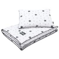 Bellochi baba párna és takaró szett, pamut, 2 darab, Grey Stars