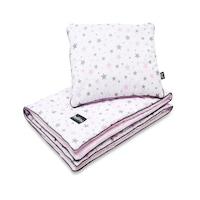 Babaágynemű szett (takaró, párna), Bellochi, pamut, csillagok, rózsaszín STAR WAY