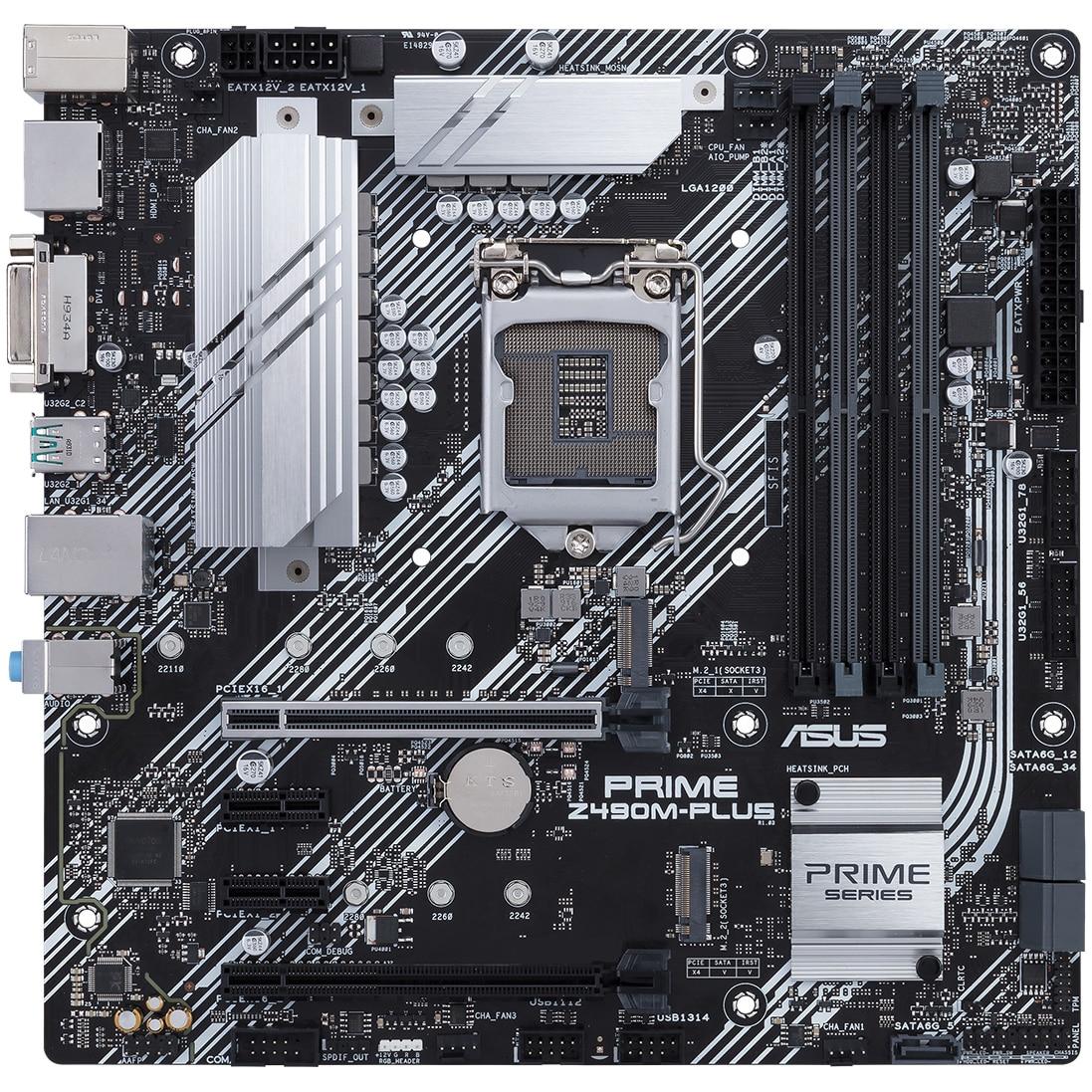 Fotografie Placa de baza ASUS PRIME Z490M-PLUS, Socket 1200