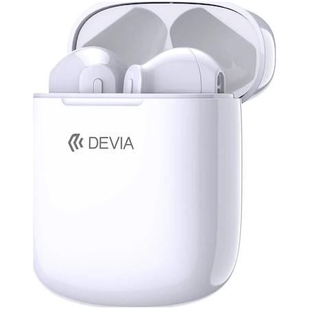 Слушалки Bluetooth Devia TWS EM058, White