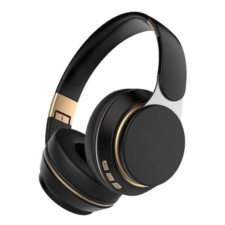 Casti wireless pliabile, Microfon incorporat, Bluetooth 5.0, Bass Stereo