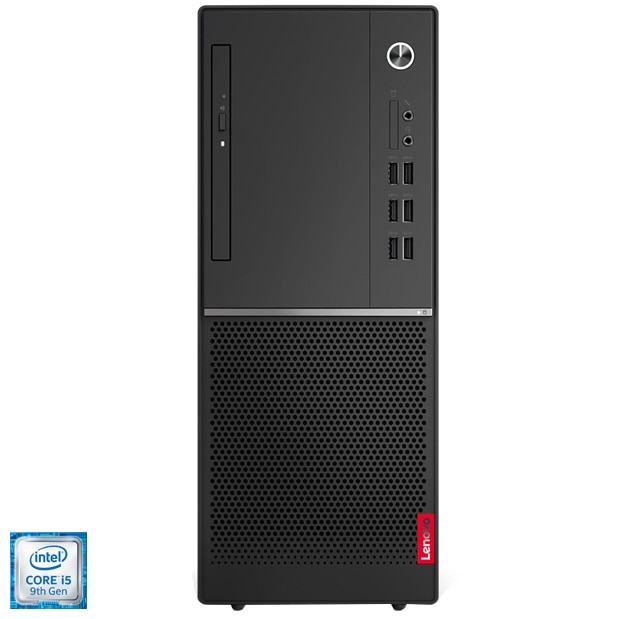 Fotografie Sistem Desktop PC Lenovo V530-15ICR cu procesor Intel® Core™ i5-9400 pana la 4.10 GHz, Coffee Lake, 8GB DDR4, 1TB HDD 7200rpm, DVD-RW, 7-in-1 Card Reader, Intel UHD Graphics 630, Free DOS, Black, Mouse + Tastatura