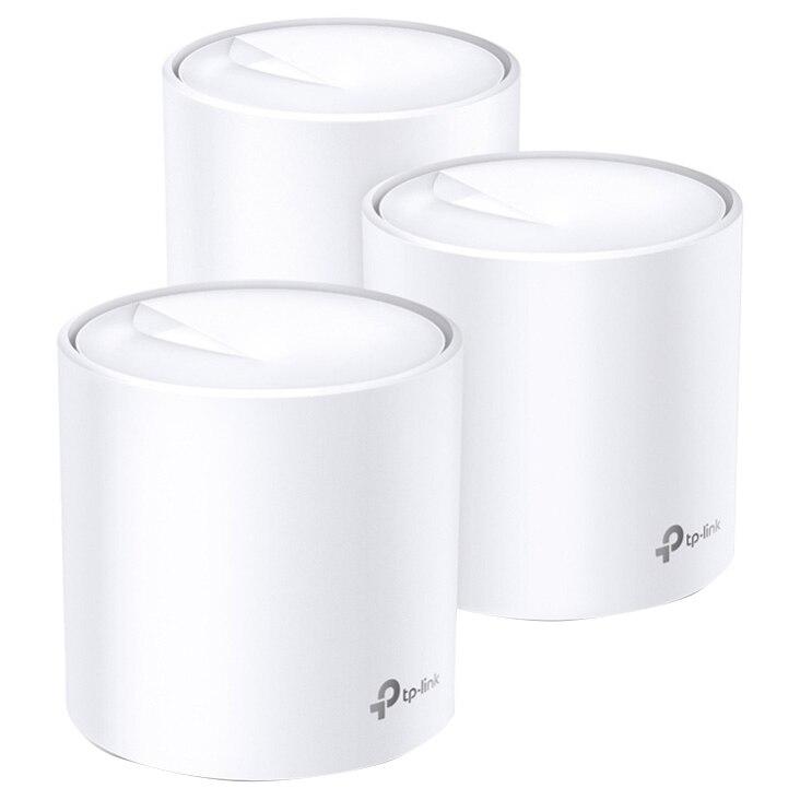 Fotografie Sistem Mesh TP-Link Deco X60 (3-pack) Wi-Fi 6 Dual-Band Gigabit AX3000, cu acoperire completa pentru casa, Seamless Roaming, Self-Healing, Adaptive Path, Antivirus, Control Parental si Control Vocal