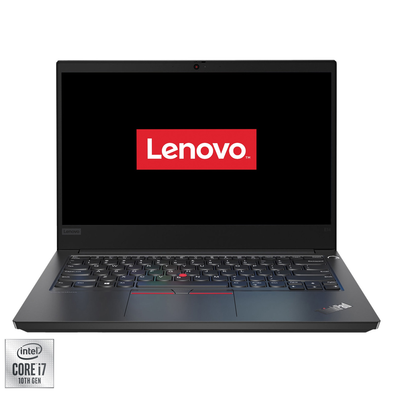 "Fotografie Laptop Ultraportabil Lenovo ThinkPad E14 cu procesor Intel Core i7-10510U pana la 4.90 GHz, 14"", Full HD, IPS, 16GB, 512GB SSD, Intel® UHD Graphics, Free Dos, Black"
