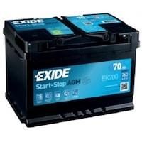 baterie auto exide agm start stop plus 70ah ek700