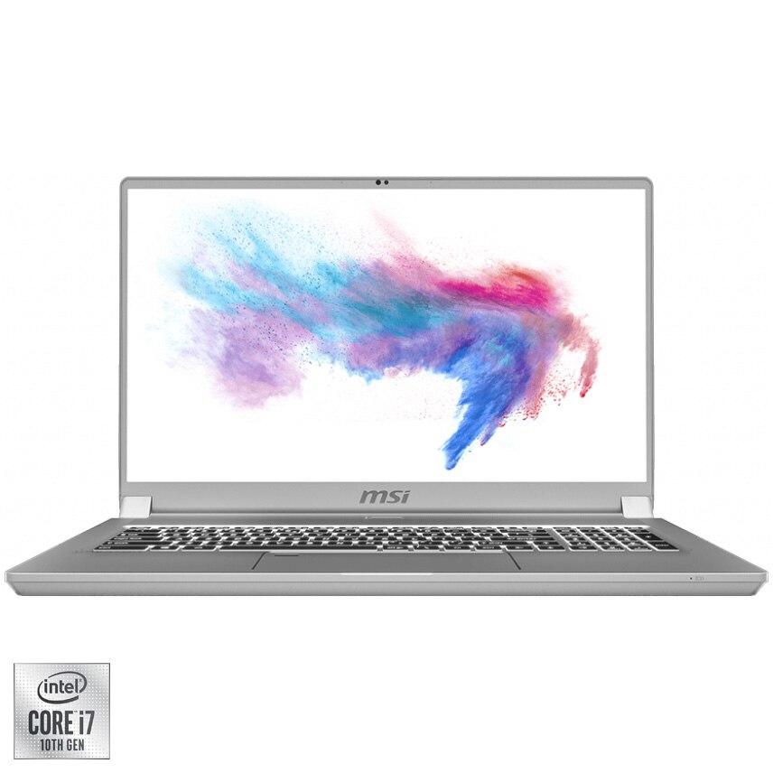 "Fotografie Laptop MSI Creator 17 A10SE-274XRO cu procesor Intel Core i7-10875H pana la 5.10 GHz, 17.3"", UHD, HDR1000, 16GB, 512GB SSD, NVIDIA GeForce RTX2060 6GB, Free DOS, Space Grey"