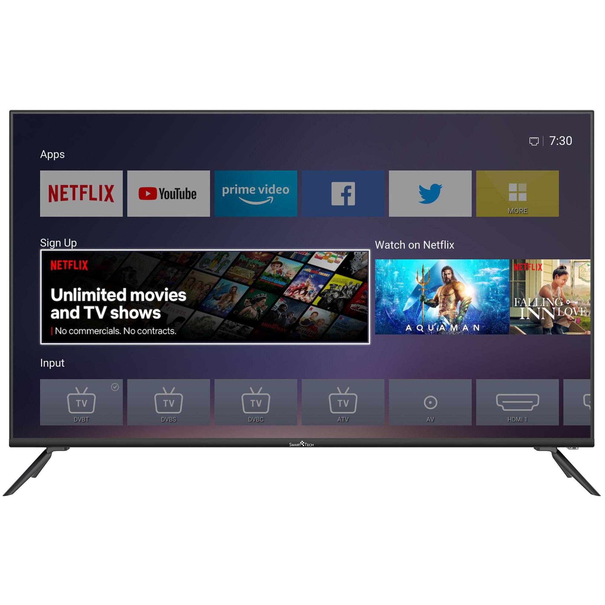 Fotografie Televizor Smart Tech 50F30U, 127 cm, Smart, 4K Ultra HD, LED