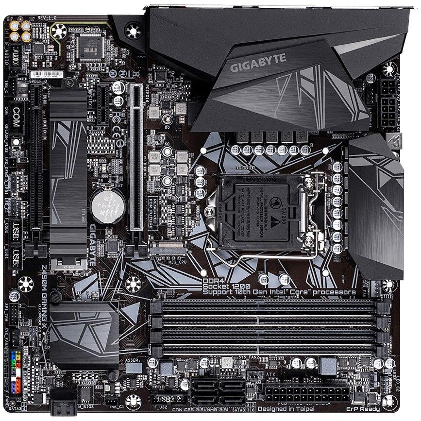 Fotografie Placa de baza Gigabyte Z490M GAMING X, Socket 1200