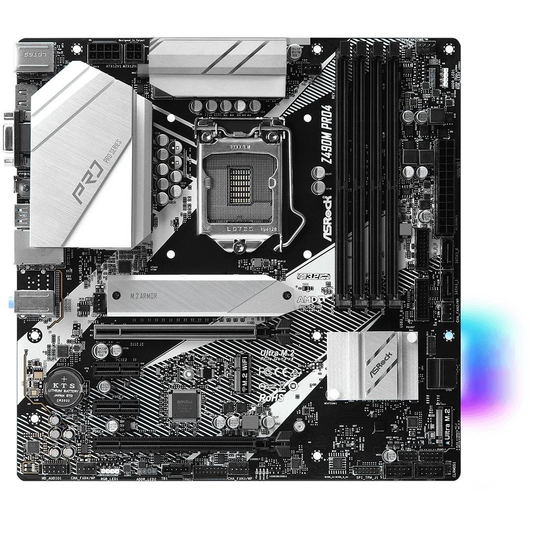 Fotografie Placa de baza ASRock Z490M Pro4, Socket 1200