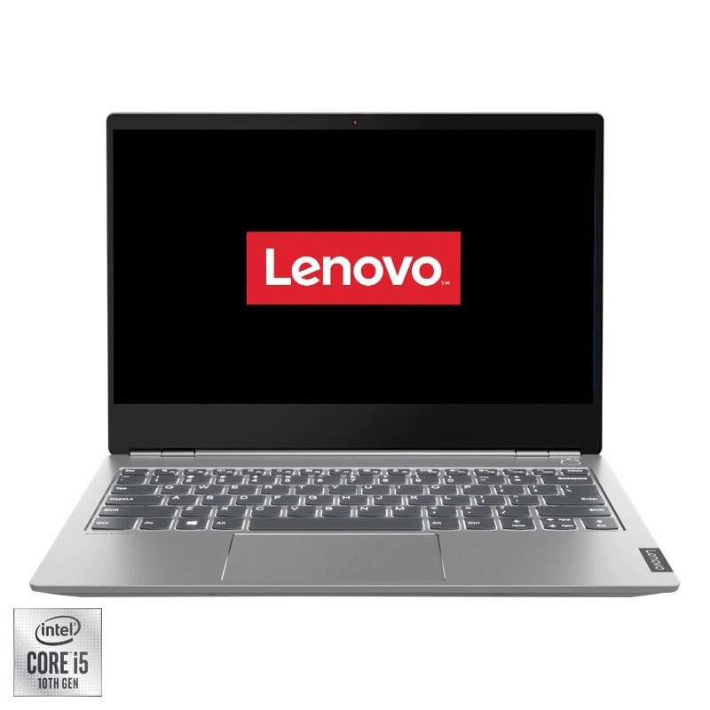 "Fotografie Laptop ultraportabil Lenovo ThinkBook 13s-IML cu procesor Intel Core i5-10210U pana la 4.20 GHz, 13.3"", Full HD, 16GB, 512GB SSD, Intel UHD Graphics, Free DOS, Mineral Grey"