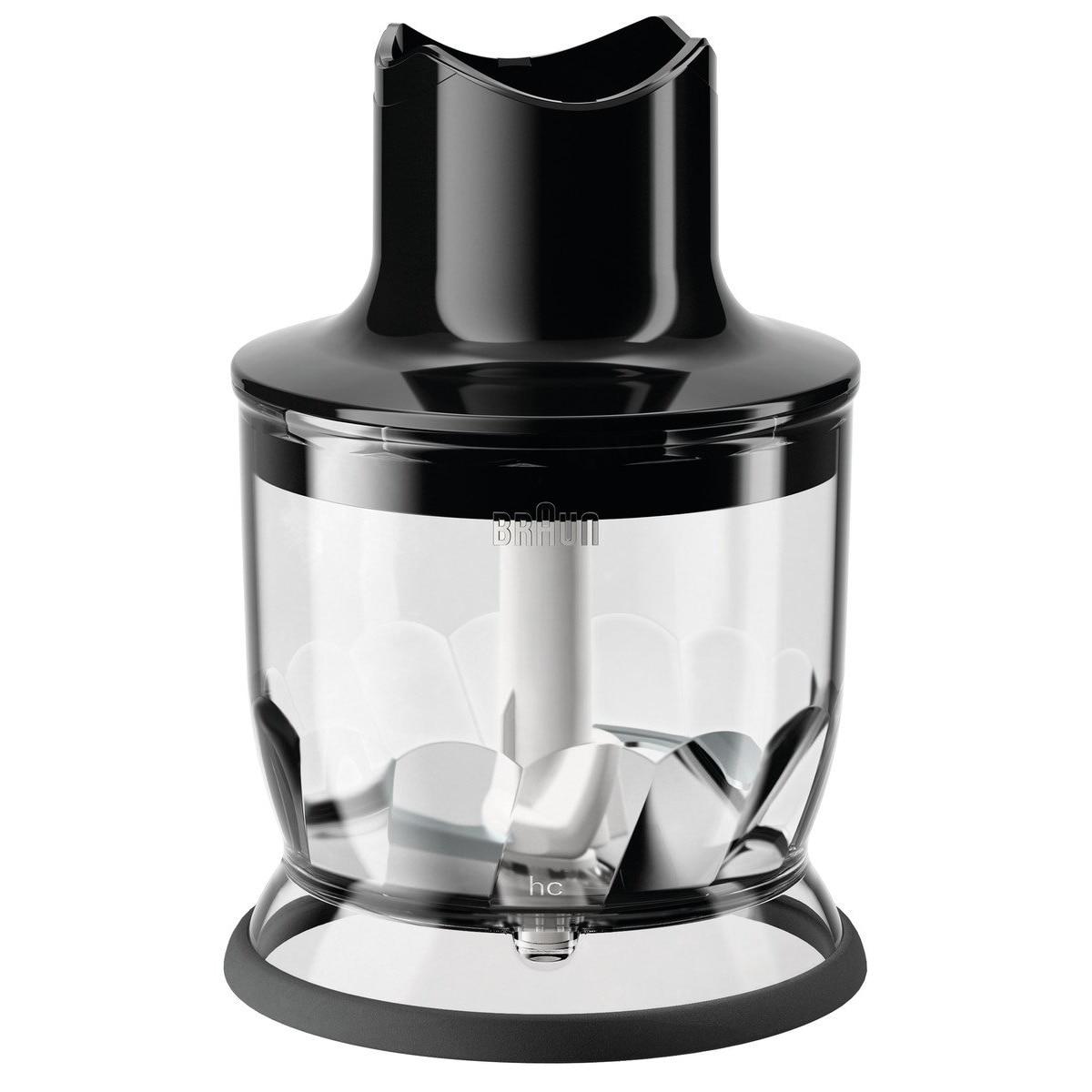 Fotografie Tocator pentru mixer vertical Braun, MQ20BK, 350 ml, Sistem EasyClick, Negru