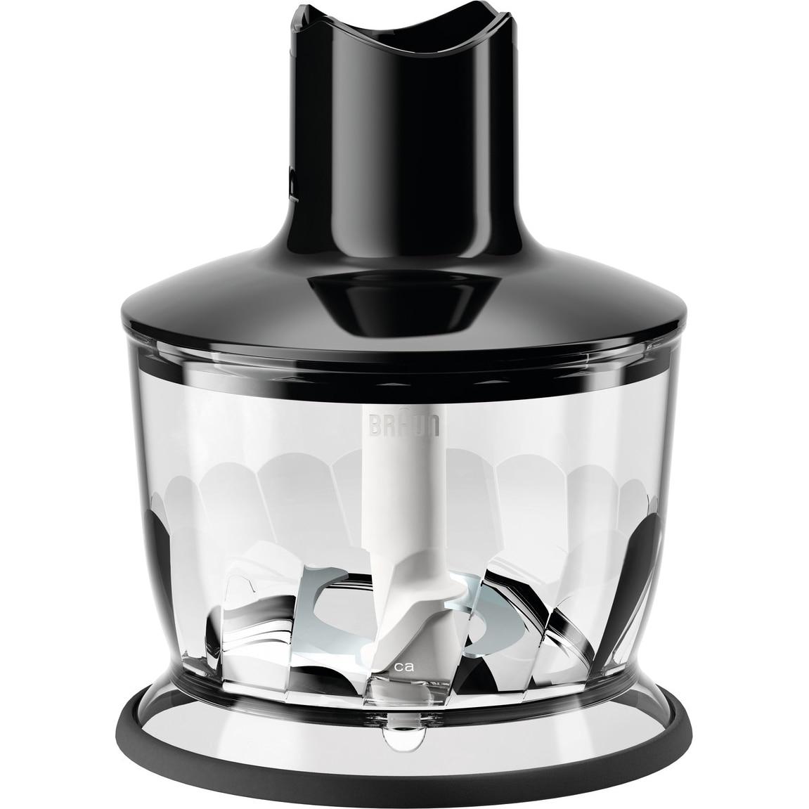 Fotografie Tocator pentru mixer vertical Braun, MQ30BK, 500 ml, Sistem EasyClick, Negru