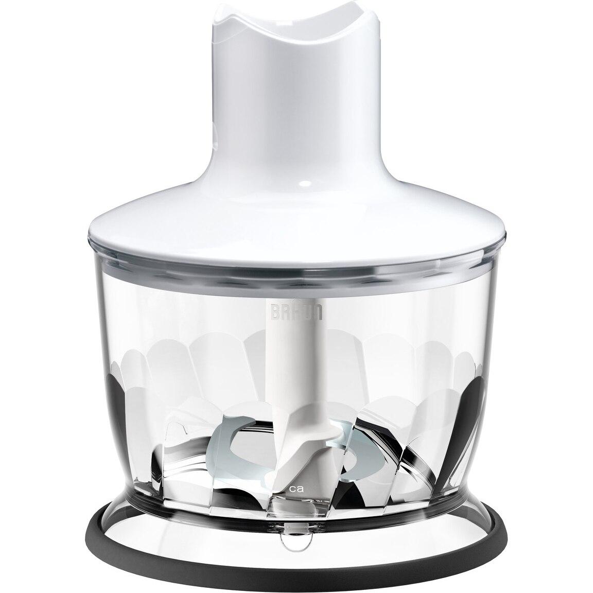 Fotografie Tocator pentru mixer vertical Braun, MQ30WH, 500 ml, Sistem EasyClick, Alb