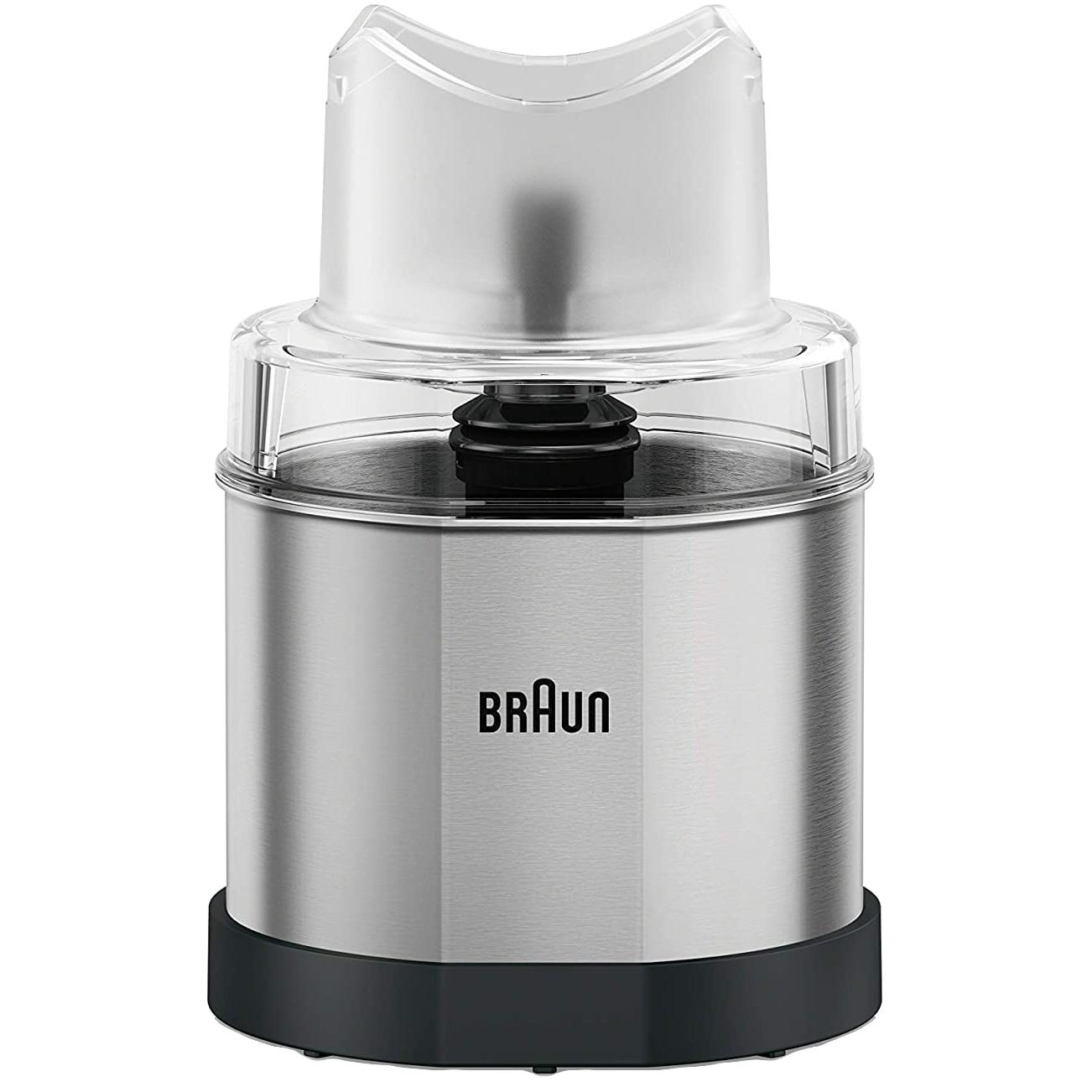 Fotografie Rasnita pentru mixer vertical Braun, MQ60S, Sistem EasyClick, Argintiu