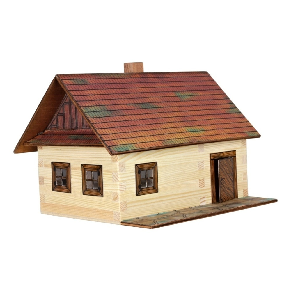Set De Construit Din Lemn Walachia Casa Din Busteni 100 Piese Emag Ro