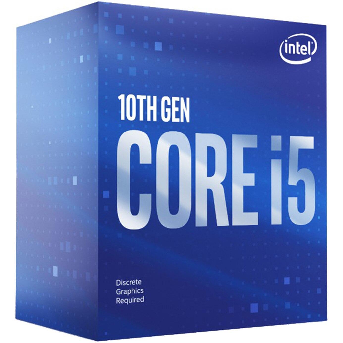 Fotografie Procesor Intel® Core™ i5-10400F Comet Lake, 2.9GHz, 12MB, fara grafica integrata, Socket 1200