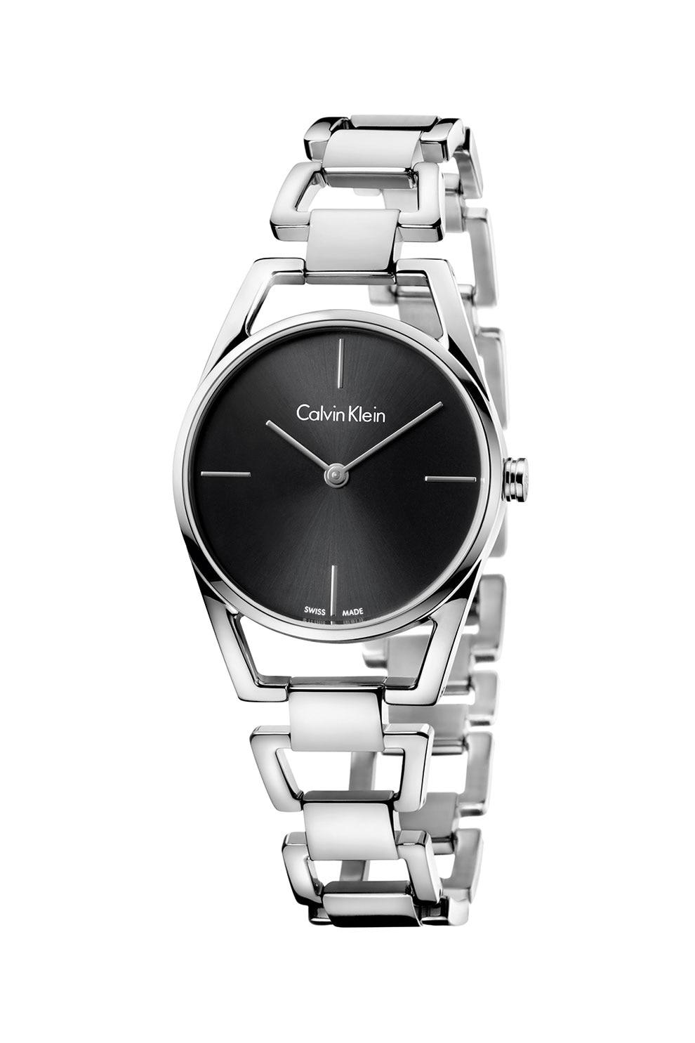 Fotografie Calvin Klein, Ceas quartz cu detaliu logo, Argintiu