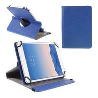 """Gigapack Bőr hatású tok, Samsung Galaxy Tab 8.9 (P7300), álló, FLIP, asztali tartó funkció, univerzális, 360°-ban forgatható, 9-10"""" méret, Sötétkék"""