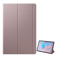 Samsung Tok, Samsung Galaxy Tab S6 10.5 WIFI (SM-T860), álló, aktív flip, oldalra nyíló, asztali tartó funkció, érintőceruza tartó, Barna