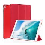 Gigapack Bőr hatású tok, Apple iPad Pro 10.5 (2017), álló, aktív flip, oldalra nyíló, TRIFOLD asztali tartó funkció, Piros