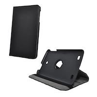 Gigapack Bőr hatású tok, LG G Pad 8.0 (V480), álló, FLIP, asztali tartó funkció, 360°-ban forgatható, Fekete