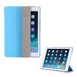 Gigapack Bőr hatású tok, Apple iPad 9.7 (2017) , álló, aktív flip, oldalra nyíló, TRIFOLD asztali tartó funkció, Világoskék