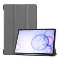 Gigapack Bőr hatású tok, Samsung Galaxy Tab S6 10.5 WIFI (SM-T860), álló, aktív flip, oldalra nyíló, TRIFOLD asztali tartó funkció, Szürke