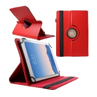 """Gigapack Bőr hatású tok, Samsung Galaxy Tab 8.9 (P7300), álló, FLIP, asztali tartó funkció, univerzális, 360°-ban forgatható, 9-10"""" méret, Piros"""