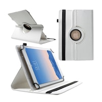 """Gigapack Bőr hatású tok, Samsung Galaxy Tab 8.9 (P7300), álló, FLIP, asztali tartó funkció, univerzális, 360°-ban forgatható, 9-10"""" méret, Fehér"""