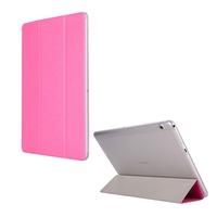 Gigapack Bőr hatású tok, Huawei Mediapad T3 10 LTE, álló, FLIP, oldalra nyíló, TRIFOLD asztali tartó funkció, Magenta