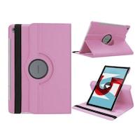 Gigapack Bőr hatású tok, Huawei MediaPad M5 10.8 LTE, álló, FLIP, asztali tartó funkció, 360°-ban forgatható, Rózsaszín
