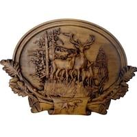 Картина Платоним Еленско семейство, дърворезба