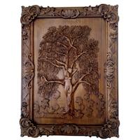 Картина Платоним Дървото на живота листопад, дърворезба
