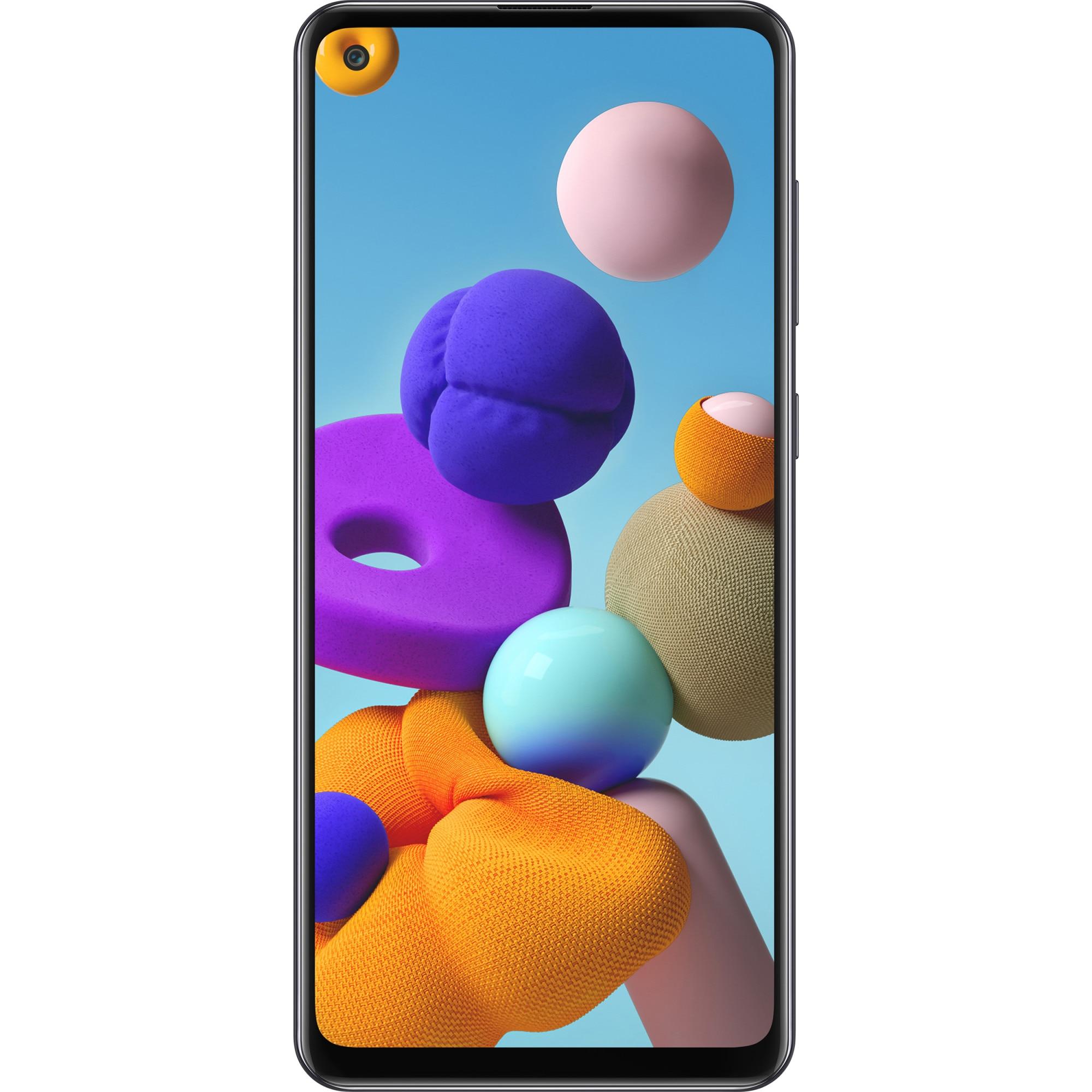 Fotografie Telefon mobil Samsung Galaxy A21s, Dual SIM, 32GB, 4G, Prism Crush Black