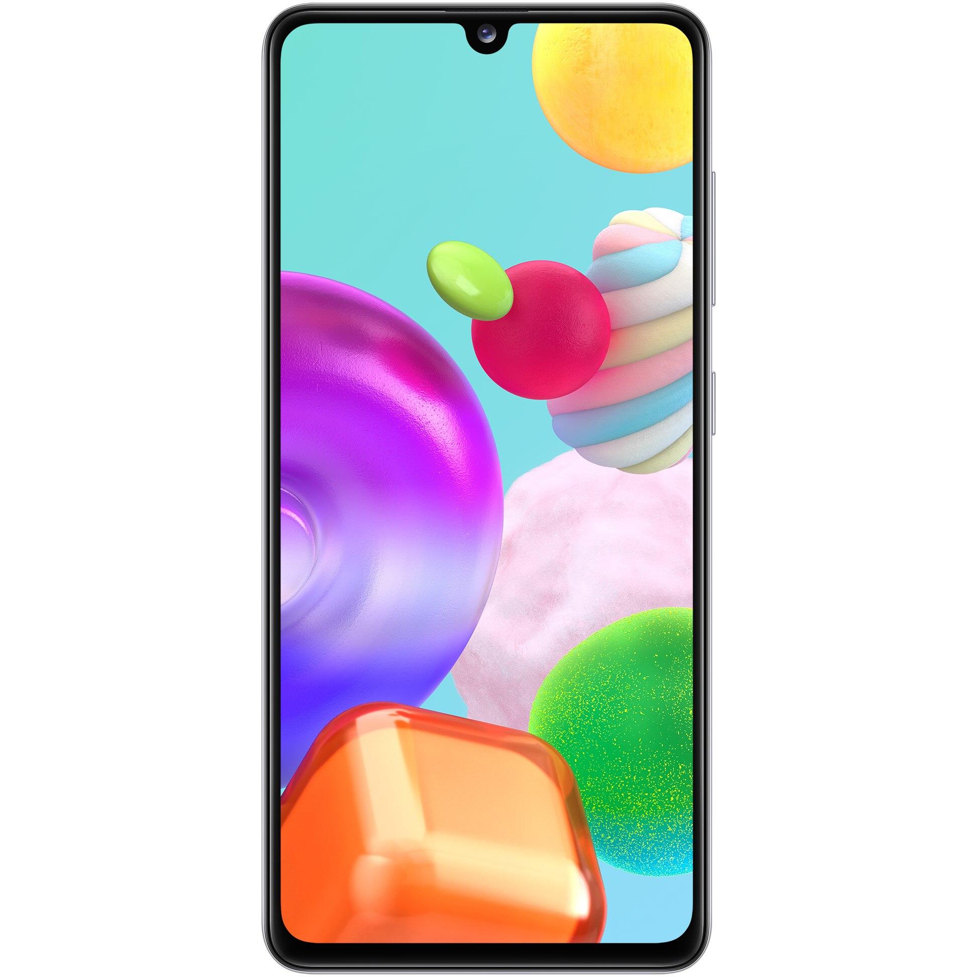 Fotografie Telefon mobil Samsung Galaxy A41, Dual SIM, 64GB, 4G, Prism Crush White