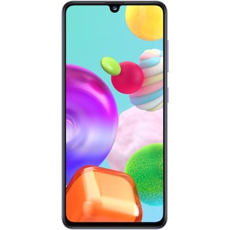 Samsung Galaxy A41 Mobiltelefon, Kártyafüggetlen, Dual SIM, 64GB, LTE, Kék