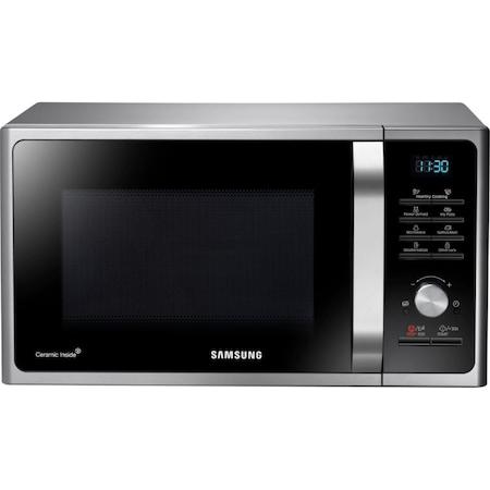 Микровълнова фурна Samsung MS28F303TAS/OL, 28 л, 1000W, Display, Дигитално управление, Керамична вътрешност, Сребрист