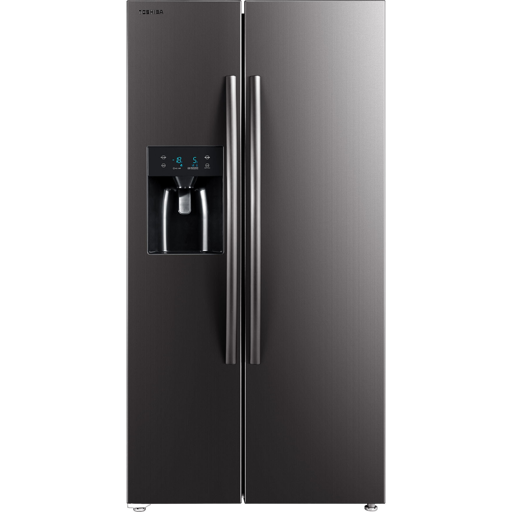 Fotografie Side by side Toshiba GR-RS508WE-PMJ, 490 l ,NoFrost, IceMaker 3in1, Touch control, Dual Inverter,Clasa A++, H 178 cm Gri