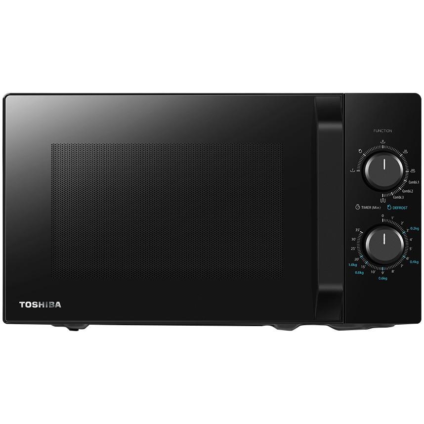 Fotografie Cuptor cu microunde Toshiba MW2-MG20PBK, 20 l, Control mecanic, 800W, Grill 1000W, Negru