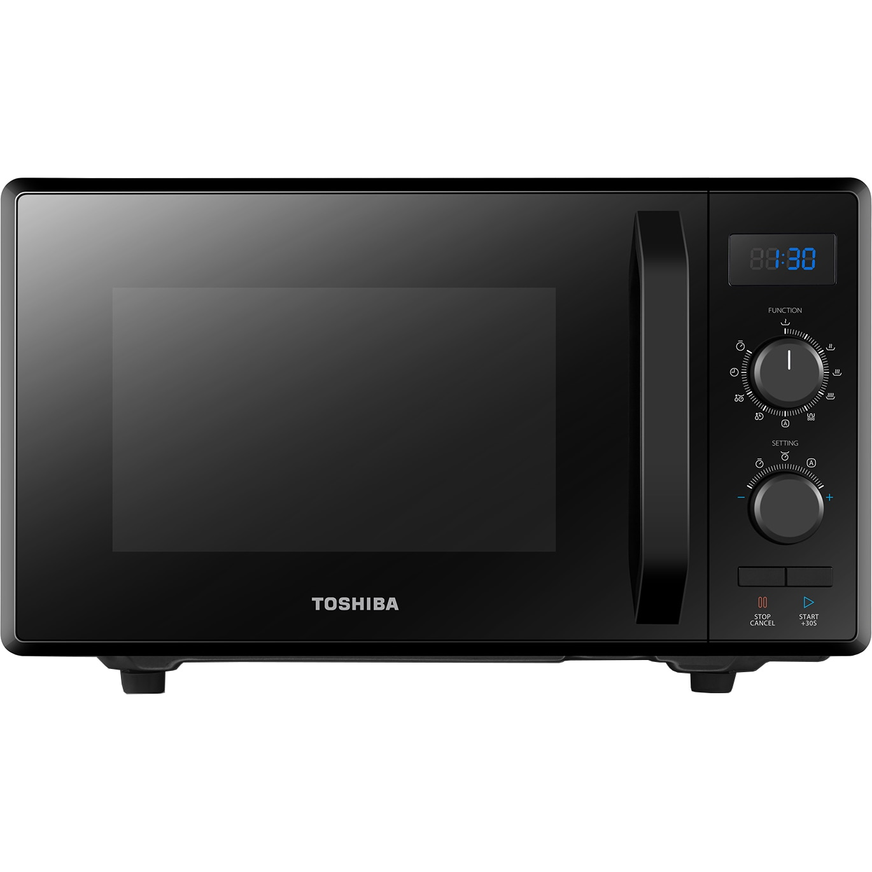 Fotografie Cuptor microunde cu Toshiba MW2-AG23PBK, 23 l, Control mecanic, 900W, Grill 1000W, Afisaj digital, Negru