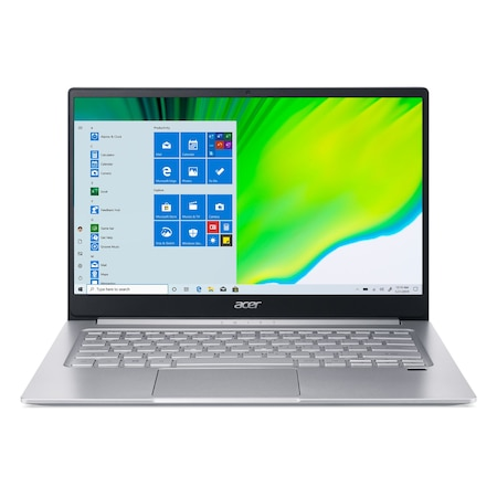 Лаптоп Acer Swift 3 SF314-42-R988 с AMD Ryzen 5 4500U (2.3/4.0GHz, 8M), 8 GB, 512GB M.2 NVMe SSD, AMD Radeon Vega 6, Windows 10 Home 64-bit, сребрист