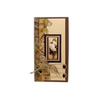 Ръчно изработена картичка Джу-бокс, естествени материали